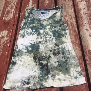 Vera Wang Color Splatter Tank Top size Small